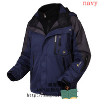 Wholesale Ski suit in Jacket Ski wear waterproof gore tex outdoor Jackets men jackets columbia navy