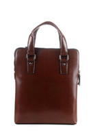 Wholesale Men leather briefcases Luxury cow leather antirust metal buckle Cheap
