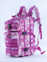 Wholesale Multi function outdoor sports pink camo tactical backpack with water bag sleeve and tube slot