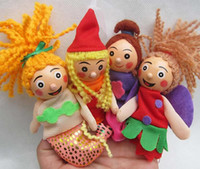 Wholesale Mermaid amp Little Red Riding Hood Mini Cartoon Finger Doll Props Plush Toys