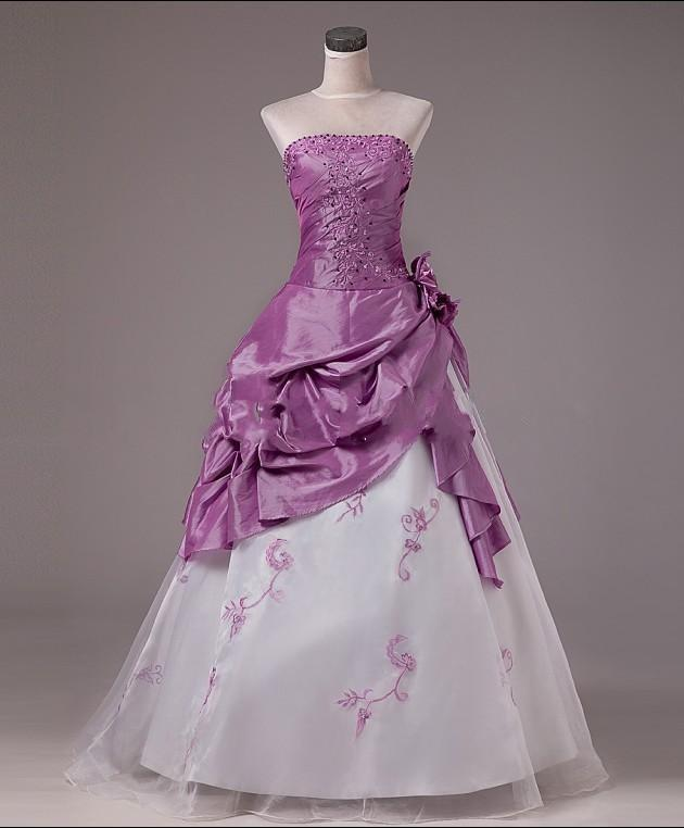 Purple Red Wedding Dresses 88