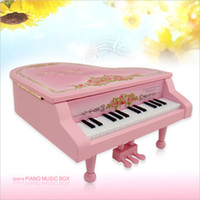 Wholesale Beautiful grand piano music box jewelry box Valentine s Day Romantic Music Box