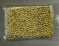 Wholesale 4mm Gilded Round Plastic Beads