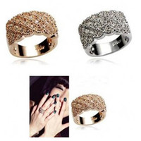 Wholesale New Diamond ring Women s Ring high quality finger ring Jewelry Fashion Band Rings mix colour