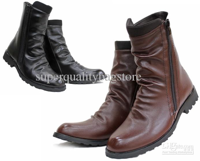 Pu Boots Men Punk Online | Pu Boots Men Punk for Sale