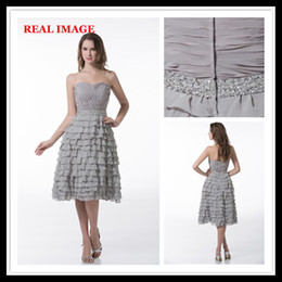 Wholesale 2013 A Line Sweetheart Multi Layer Cocktail Dresses Pleated and Pailletted Party Dresses MZ010