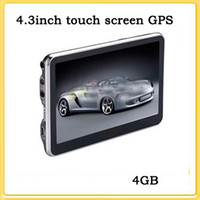 Wholesale hot sale inch Touch SCREEN FM GPS navigation MediaTek Win CE6 free MAP GB flash m