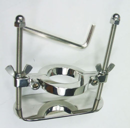 Wholesale 100 real Stainless Steel Scrotum Bondage Ball stretcher Scrotum Fixture