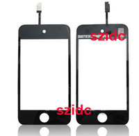 Wholesale Replacement Touch Screen Digitizer Glass Lens for iPod Touch G White Black Free DHL EMS FEDEX