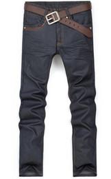 Wholesale New Men s Jeans Classic Denim Straight Trousers Men Cotton Coating Slim Leisure Casual Jean