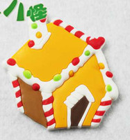 Wholesale 2013 New cartoon refrigerator magnetic stickers snow angel House Christmas PVC refrigerator mix bath