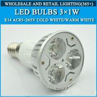Wholesale High power led bulbs Lamp Light E14 W AC85 V led Spotlight Warm White Cold white