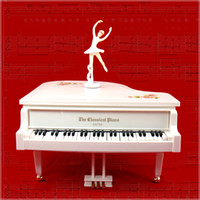 Wholesale Dancing ballet girl piano music box dance music the piano dancing girl music box