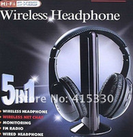 Wholesale Wireless Headset Headphone Earphone for TV CD MP3 PC FM