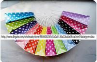 Wholesale polka dots shopping bag paper gift bag per paper bags