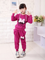 Wholesale Brand new spring Autumn Girls fashion lace Tracksuits Sportwear butterfly style Activewear