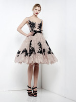 Wholesale 2013 Zuhair Murad High Grade Lace Sleeveless Knee Length Evening Dresses Prom Custom Made H531