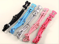 Wholesale New Colorful Adjustable Soft Pet Dog Rhinestone PU leather Dog Harness Leashes for Small Medium dogs