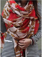 Wholesale Mixed selling winter women Knitted square scarves Fashion Chiffon scarves red blue