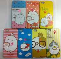 Wholesale IMD MOLANG rabbit design hard PC plastic phone case cover shell skin for iPhone G