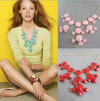 Wholesale New Bubble Bib Statement Party Long Fringe Necklace Candy Colors Jewelry colors in stock