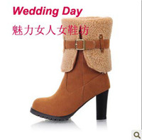Wholesale new model platform frosted ankle boot wistiti Martin boots A019