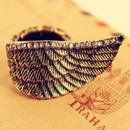 Angel wings adjustable rings Women's Ring high quality Fashion Band Rings free shipping