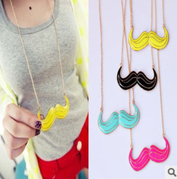 Wholesale 2012 New Super Unique Avanti Beard Pendant Chain Necklace Mix Color