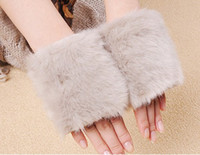 Wholesale hot selling women s winter fashion rabbit hair half finger fur gloves mitten gloves STA02 pairs