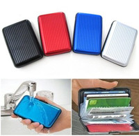 Wholesale Aluminium Credit card wallet cases card holder bank card case aluminum wallet
