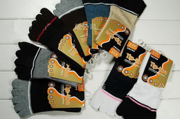 Wholesale Hot sale stripes fingers socks Men s Toe socks Men s Hosiery Men s Socks