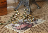Wholesale Fashion Necklaces Vintage Bicycle Lystation Pendent Necklace Bronze Tone J544