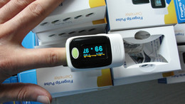 Wholesale FREE DHL Fedex SHIPPING Finger Pulse oximeter OLED screen direction change with protect case gif