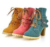 Wholesale New Women Retro Boots Platform Pumps Cavalier Boot High Heel Shoes Rivet Boots Lady Girls