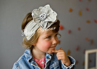 Wholesale HOT fashion head flower hair band cute baby girls headwear top baby headwear hair ribbons