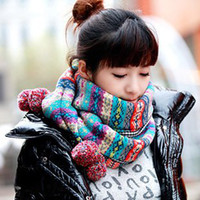 Wholesale Fashion Lady Long Wool Yarn Scarf Pashmina Warm Cowl Women Thick Winter Vintage N