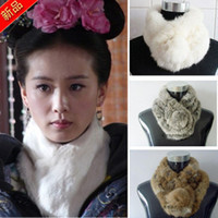 Wholesale Rabbit fur scarf fur one piece fur scarf women s autumn and winter thermal fashion rex rabbit long d