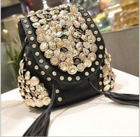Wholesale New Fashion Luxury Drawstring Bags Button amp Tassel Decoration Bags Single Shoulder Backpacks