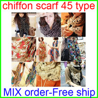Wholesale Chiffon Scarf Women Fashion Scarves Type Leopard Muffle Free Shipment Winter Silk Shawl Muffler