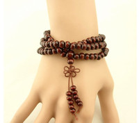 Wholesale Mala Beads Necklace Bracelet Wood Beads Buddhist Prayer Jewelry about cm long