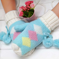 Wholesale brand new lovely gloves girl gloves woman gloves Add wool gloves beautiful gloves