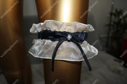 Wholesale Black and White Bridal Garters Two color Organza Garters Wedding Accessories in Stock