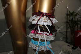 Wholesale Multi color Bridal Garters Lace Simple Design Wedding Accessories in Stock Pretty Garters