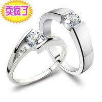 Wholesale 925 Silver Lovers Couple Ring Luxury Diamond Ring Engagement Ring WEDDING CS1