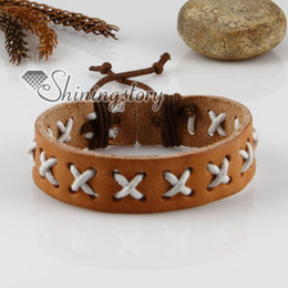 personalised leather bracelets mens leather wristbands leather jewelry