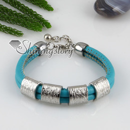 genuine leather charm wristbands multi layer buckle bracelets for men and women