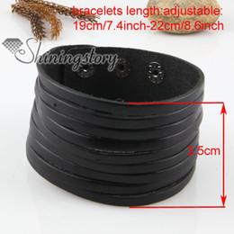 leather cuff bracelets men leather wristbands Mens fashion jewelry