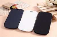 Wholesale Flip Leather Case Cover for Samsung Galaxy S3 S III mini i8190 with Retail Package