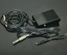 Wholesale Square Black Tattoo Foot Switch And Tattoo Clip Cord for Tattoo Power Kit Supply