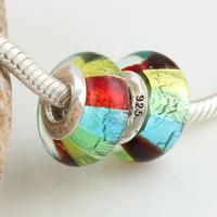 Wholesale 2012 newest Glass diy Beads Chamilia Bracelet Charms DIY Fashion Silver jewelery colourful